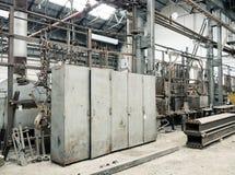 Alte Fabrik-Schließfächer Lizenzfreie Stockfotos