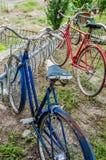 Alte Fahrräder der Weinlese Lizenzfreie Stockbilder