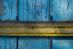 Alte Farbe auf Brettern Stockfotografie