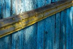 Alte Farbe auf Brettern Lizenzfreie Stockfotografie
