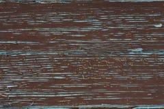 Alte Farbe auf einer Holzoberfläche Stockfotografie
