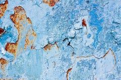 Alte Farbe auf rostigem Metall Lizenzfreie Stockfotos