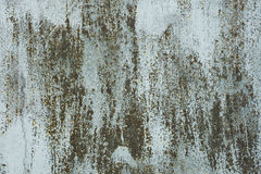 Alte Farbe auf rostiger Metalloberfläche Stockbild