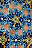 Alte Farbe deckt Mosaik mit Ziegeln Stockfotografie