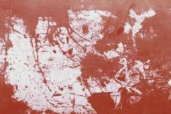 Alte Farbe des roten Schmutzes auf dem Stahlhintergrund Lizenzfreies Stockbild