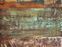 Alte Farbe gemalte Beschaffenheit des hölzernen Brettes Lizenzfreies Stockbild
