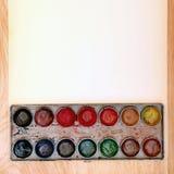 Alte Farben-Ausrüstung Stockfoto