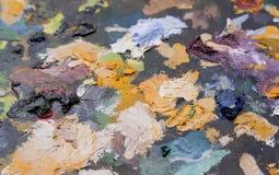 Alte Farbenpalette Lizenzfreies Stockfoto