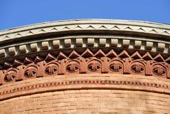 Alte Fassade der österreichischen Kirche Stockfoto