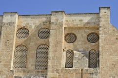 Alte Fassade in der alten Stadt von Jerusalem. stockfotos