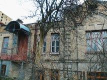 alte Fassade der Villa, Kiew Lizenzfreies Stockfoto