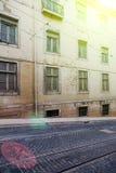 Alte Fassade Lissabons, Detail einer alten Straße Portugal Lizenzfreies Stockbild