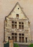 Alte Fassade verärgert herein in Loire Valley in Frankreich Stockbild