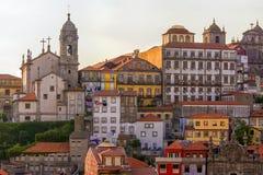 Alte Fassaden der Stadt von Porto Lizenzfreie Stockbilder