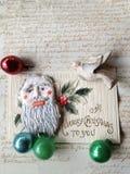 Alte Feiertagskarte mit antiken Verzierungen Lizenzfreie Stockfotografie