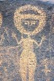 Alte Felsenkunst in Niger, der eine Abbildung bildlich darstellt Stockfotografie