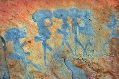Alte Felsmalereien, Namibia Stockfotografie