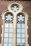 Alte Fenster der Architekturdekoration, Weinleseart, ein Schutzanteil von Fenstern, interessantes Detail Lizenzfreie Stockbilder