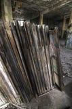 Alte Fenster-Felder Lizenzfreie Stockbilder