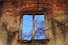 Alte Fenster und Wand Lizenzfreies Stockbild