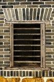Alte Fenster und Wandbeschaffenheit Stockfoto