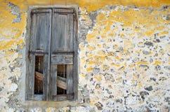 Alte Fensterblendenverschlüsse Lizenzfreies Stockfoto