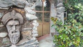 Alte Fensterwand Oldtown Lizenzfreies Stockbild