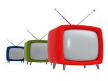 Alte Fernsehapparate   3D Stockbild