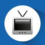 alte Fernsehzeichnung lokalisiertes Ikonendesign Lizenzfreie Stockfotografie