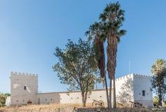 Alte Feste a Windhoek, come visto dal memoriale di indipendenza Fotografia Stock