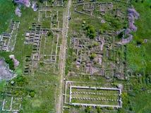Alte Festung Adamclisi in Vogelperspektive Dobrogea Rumänien Lizenzfreie Stockbilder