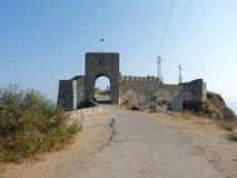 Alte Festung auf Kap Kaliakra Stockfotos