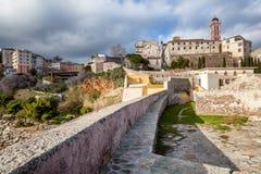 Alte Festung in Bastia, auf der Insel von Korsika, Frankreich Tr stockbilder