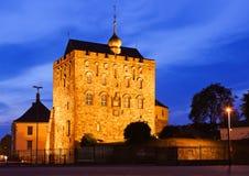 Alte Festung in Bergen Norway stockbilder