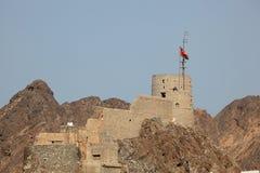 Alte Festung in der Muskatellertraube, Oman Lizenzfreie Stockbilder