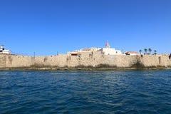 Alte Festung des Morgens auf dem Meer Lizenzfreies Stockfoto