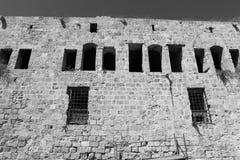 Alte Festung des Morgens auf dem Meer Stockfoto
