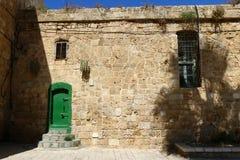 Alte Festung des Morgens auf dem Meer Lizenzfreies Stockbild