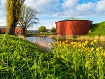 Alte Festung im alten Teil von Malmö, Schweden Lizenzfreie Stockfotografie