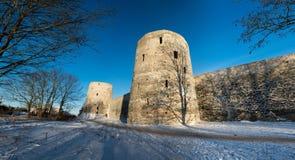 Alte Festung in Izborsk lizenzfreies stockbild