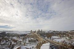 Alte Festung in Kamyanets Podolsky Ukraine Stockfotografie