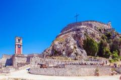 Alte Festung in Kerkyra, Korfu lizenzfreie stockbilder