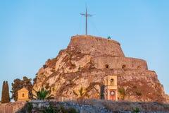 Alte Festung in Kerkyra, Korfu stockfotografie