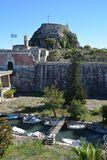 Alte Festung, Korfu-Stadt lizenzfreies stockbild
