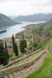 Alte Festung in Kotor, Montenegro Stockbilder