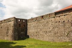 Alte Festung mit einer Bastion in Uzhgorod Stockfotos