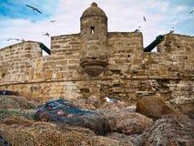 Alte Festung mit Kanonen Lizenzfreie Stockbilder