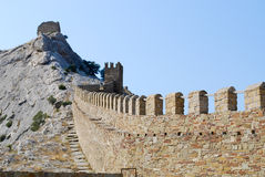 Alte Festungs-Wand Stockbilder