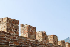 Alte Festungs-Wand Lizenzfreie Stockbilder