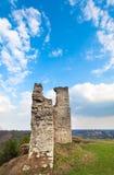 Alte Festungsruinen des Frühlinges Stockbild